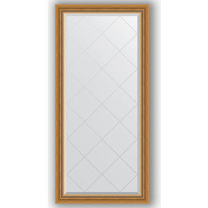 Зеркало с гравировкой поворотное Evoform Exclusive-G 73x155 см, в багетной раме - состаренное золото плетением 70 мм (BY 4260)