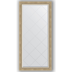 Зеркало с гравировкой поворотное Evoform Exclusive-G 73x155 см, в багетной раме - состаренное серебро с плетением 70 мм (BY 4261) зеркало evoform exclusive g 128х73 состаренное серебро с плетением