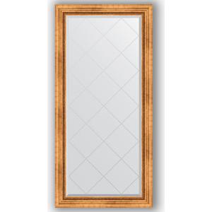 Зеркало с гравировкой поворотное Evoform Exclusive-G 76x158 см, в багетной раме - римское золото 88 мм (BY 4275) зеркало с гравировкой поворотное evoform exclusive g 56x74 см в багетной раме римское золото 88 мм by 4017