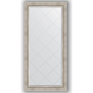 Зеркало с гравировкой поворотное Evoform Exclusive-G 76x158 см, в багетной раме - римское серебро 88 мм (BY 4276) зеркало evoform exclusive g 186х131 римское серебро