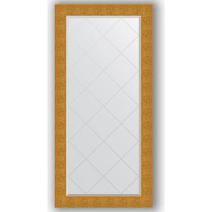 Зеркало с гравировкой поворотное Evoform Exclusive-G 76x158 см, в багетной раме - чеканка золотая 90 мм (BY 4280)