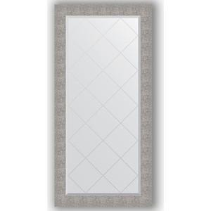 Зеркало с гравировкой поворотное Evoform Exclusive-G 76x158 см, в багетной раме - чеканка серебряная 90 мм (BY 4281)