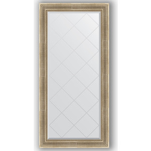 Зеркало с гравировкой поворотное Evoform Exclusive-G 77x160 см, в багетной раме - серебряный акведук 93 мм (BY 4282)