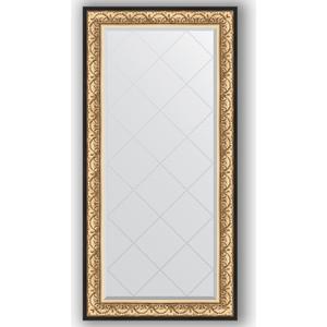 Зеркало с гравировкой поворотное Evoform Exclusive-G 80x162 см, в багетной раме - барокко золото 106 мм (BY 4294) фото