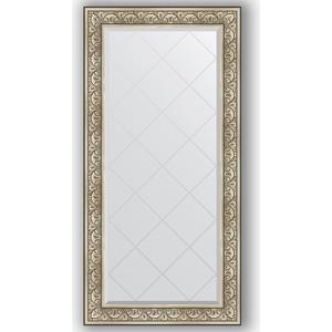 Зеркало с гравировкой поворотное Evoform Exclusive-G 80x162 см, в багетной раме - барокко серебро 106 мм (BY 4295) зеркало с гравировкой поворотное evoform exclusive g 70x160 см в багетной раме барокко золото 106 мм by 4165