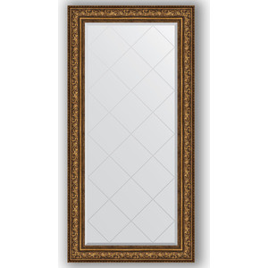 Зеркало с гравировкой поворотное Evoform Exclusive-G 80x162 см, в багетной раме - виньетка состаренная бронза 109 мм (BY 4298) зеркало в багетной раме поворотное evoform definite 54x104 см виньетка состаренная бронза 56 мм by 3073