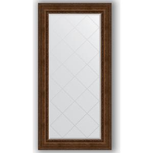 Зеркало с гравировкой поворотное Evoform Exclusive-G 82x164 см, в багетной раме - состаренная бронза орнаментом 120 мм (BY 4300)