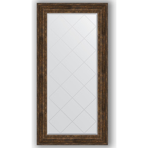 Зеркало с гравировкой поворотное Evoform Exclusive-G 82x164 см, в багетной раме - состаренное дерево с орнаментом 120 мм (BY 4301) цены