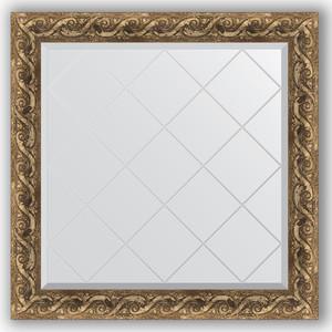 Зеркало с гравировкой Evoform Exclusive-G 86x86 см, в багетной раме - фреска 84 мм (BY 4313)