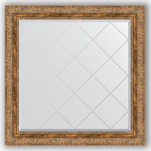 Зеркало с гравировкой Evoform Exclusive-G 85x85 см, в багетной раме - виньетка античная бронза 85 мм (BY 4316)