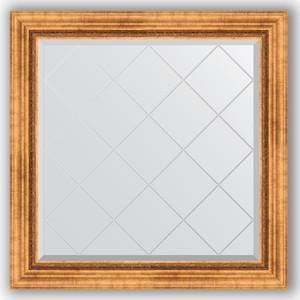 Зеркало с гравировкой Evoform Exclusive-G 86x86 см, в багетной раме - римское золото 88 мм (BY 4318)