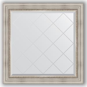 Зеркало с гравировкой Evoform Exclusive-G 86x86 см, в багетной раме - римское серебро 88 мм (BY 4319) зеркало evoform exclusive g 186х131 римское серебро