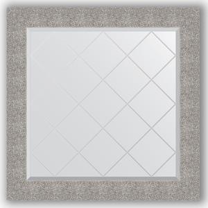 Зеркало с гравировкой Evoform Exclusive-G 86x86 см, в багетной раме - чеканка серебряная 90 мм (BY 4324)