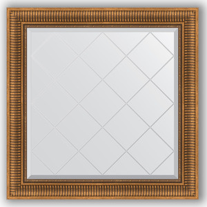 Зеркало с гравировкой Evoform Exclusive-G 87x87 см, в багетной раме - бронзовый акведук 93 мм (BY 4326)