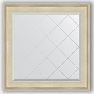 Зеркало с гравировкой Evoform Exclusive-G 88x88 см, в багетной раме - травленое серебро 95 мм (BY 4327)