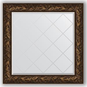 Зеркало с гравировкой Evoform Exclusive-G 89x89 см, в багетной раме - византия бронза 99 мм (BY 4330)