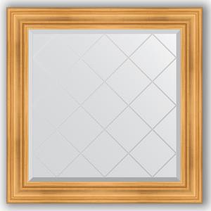 Зеркало с гравировкой Evoform Exclusive-G 89x89 см, в багетной раме - травленое золото 99 мм (BY 4331)