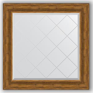 Зеркало с гравировкой Evoform Exclusive-G 89x89 см, в багетной раме - травленая бронза 99 мм (BY 4333) фото
