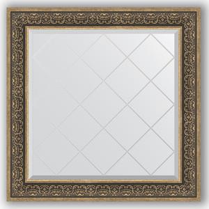 Зеркало с гравировкой Evoform Exclusive-G 89x89 см, в багетной раме - вензель серебряный 101 мм (BY 4336) зеркало в багетной раме evoform definite 73x73 см вензель серебряный 101 мм by 3160