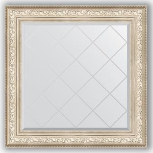Зеркало с гравировкой Evoform Exclusive-G 90x90 см, в багетной раме - виньетка серебро 109 мм (BY 4340)