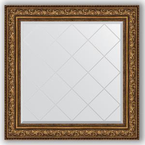 Зеркало с гравировкой Evoform Exclusive-G 90x90 см, в багетной раме - виньетка состаренная бронза 109 мм (BY 4341)