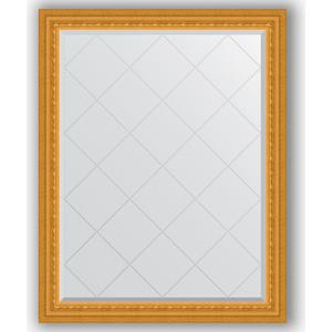 Зеркало с гравировкой поворотное Evoform Exclusive-G 95x120 см, в багетной раме - сусальное золото 80 мм (BY 4353) зеркало с гравировкой поворотное evoform exclusive g 130x184 см в багетной раме сусальное золото 80 мм by 4482