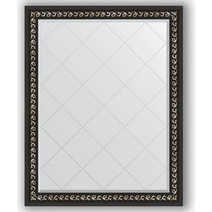 Зеркало с гравировкой поворотное Evoform Exclusive-G 95x120 см, в багетной раме - черный ардеко 81 мм (BY 4354)