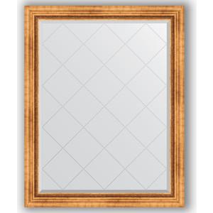 Зеркало с гравировкой поворотное Evoform Exclusive-G 96x121 см, в багетной раме - римское золото 88 мм (BY 4361)