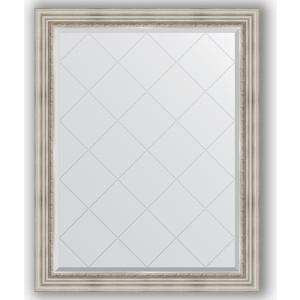 Зеркало с гравировкой поворотное Evoform Exclusive-G 96x121 см, в багетной раме - римское серебро 88 мм (BY 4362) зеркало evoform exclusive g 186х131 римское серебро