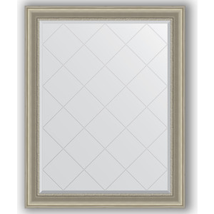 Зеркало с гравировкой поворотное Evoform Exclusive-G 96x121 см, в багетной раме - хамелеон 88 мм (BY 4364)