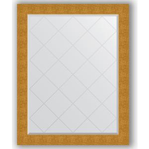 Зеркало с гравировкой поворотное Evoform Exclusive-G 96x121 см, в багетной раме - чеканка золотая 90 мм (BY 4366)
