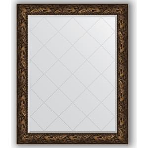 Зеркало с гравировкой поворотное Evoform Exclusive-G 99x124 см, в багетной раме - византия бронза 99 мм (BY 4373) фото