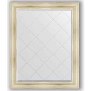 Зеркало с гравировкой поворотное Evoform Exclusive-G 99x124 см, в багетной раме - травленое серебро 99 мм (BY 4375)