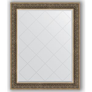 Зеркало с гравировкой поворотное Evoform Exclusive-G 99x124 см, в багетной раме - вензель серебряный 101 мм (BY 4379) зеркало с гравировкой поворотное evoform exclusive g 79x106 см в багетной раме вензель серебряный 101 мм by 4207