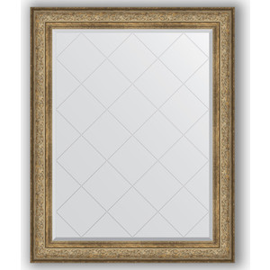 Зеркало с гравировкой поворотное Evoform Exclusive-G 100x125 см, в багетной раме - виньетка античная бронза 109 мм (BY 4382)