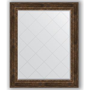 Зеркало с гравировкой поворотное Evoform Exclusive-G 102x127 см, в багетной раме - состаренное дерево с орнаментом 120 мм (BY 4387) цены