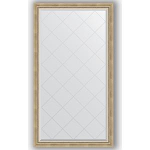 Зеркало с гравировкой поворотное Evoform Exclusive-G 93x168 см, в багетной раме - состаренное серебро с плетением 70 мм (BY 4390) зеркало evoform exclusive g 128х73 состаренное серебро с плетением