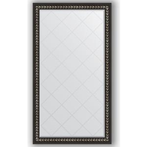 Зеркало с гравировкой поворотное Evoform Exclusive-G 95x169 см, в багетной раме - черный ардеко 81 мм (BY 4397)