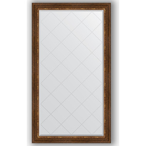 Зеркало с гравировкой поворотное Evoform Exclusive-G 96x171 см, в багетной раме - римская бронза 88 мм (BY 4406)