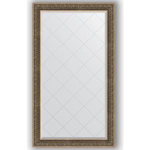Зеркало с гравировкой поворотное Evoform Exclusive-G 99x174 см, в багетной раме - вензель серебряный 101 мм (BY 4422) зеркало с гравировкой поворотное evoform exclusive g 79x106 см в багетной раме вензель серебряный 101 мм by 4207