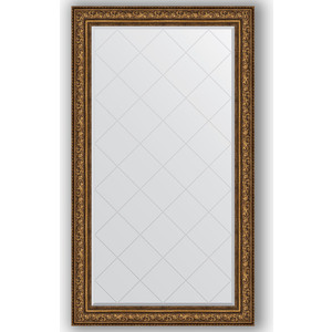 Зеркало с гравировкой поворотное Evoform Exclusive-G 100x175 см, в багетной раме - виньетка состаренная бронза 109 мм (BY 4427) зеркало в багетной раме поворотное evoform definite 54x104 см виньетка состаренная бронза 56 мм by 3073