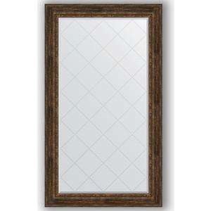 Зеркало с гравировкой поворотное Evoform Exclusive-G 102x177 см, в багетной раме - состаренное дерево с орнаментом 120 мм (BY 4430) цены