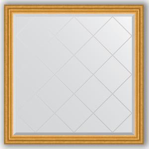 Зеркало с гравировкой Evoform Exclusive-G 102x102 см, в багетной раме - состаренное золото 67 мм (BY 4431)