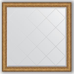 Зеркало с гравировкой Evoform Exclusive-G 104x104 см, в багетной раме - медный эльдорадо 73 мм (BY 4438)