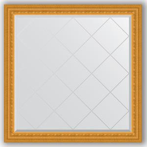 Зеркало с гравировкой Evoform Exclusive-G 105x105 см, в багетной раме - сусальное золото 80 мм (BY 4439) зеркало с гравировкой поворотное evoform exclusive g 130x184 см в багетной раме сусальное золото 80 мм by 4482