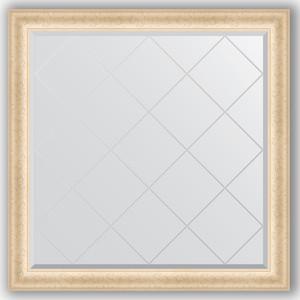 Зеркало с гравировкой Evoform Exclusive-G 105x105 см, в багетной раме - старый гипс 82 мм (BY 4441) цена