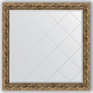 Зеркало с гравировкой Evoform Exclusive-G 106x106 см, в багетной раме - фреска 84 мм (BY 4442)