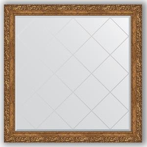 Зеркало с гравировкой Evoform Exclusive-G 105x105 см, в багетной раме - виньетка бронзовая 85 мм (BY 4443) фото