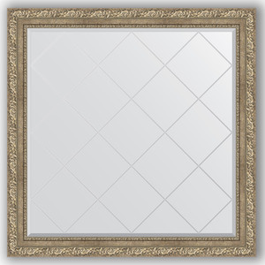 Зеркало с гравировкой Evoform Exclusive-G 105x105 см, в багетной раме - виньетка античное серебро 85 мм (BY 4444) зеркало с гравировкой поворотное evoform exclusive g 95x120 см в багетной раме виньетка античное серебро 85 мм by 4358