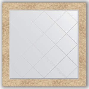 Зеркало с гравировкой Evoform Exclusive-G 106x106 см, в багетной раме - золотые дюны 90 мм (BY 4451)